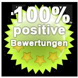 Prüfsiegel 100 Prozent Positive Bewertungen